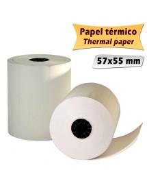 100 rollos de papel Térmico 57x55mm