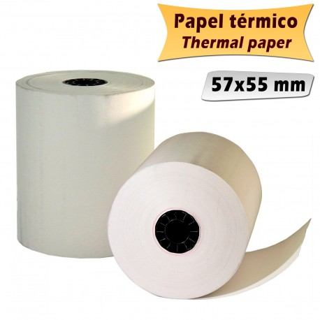 100 thermal Paper Rolls 57x55mm