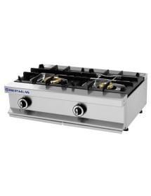 Cocina industrial 2 quemadores/fuegos Repagas CG-520/M