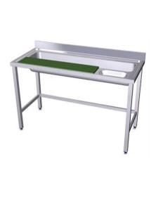 Mesa de preparación de verduras de acero inoxidable