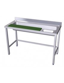 Vegetable stainless steel preparation table