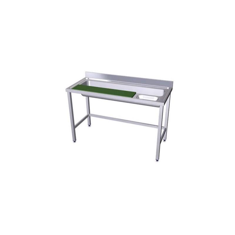 Table de pr paration de l gumes en acier inoxydable chef - Table en acier inoxydable ...