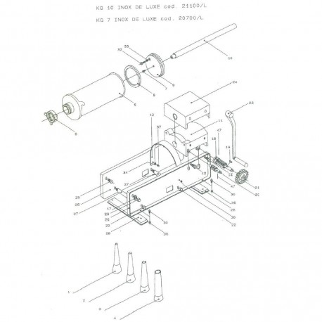 Pistón y junta Embutidora Mainca TP-10