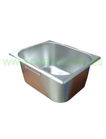 Cubeta Gastronorm con asas 325x265x150 freidoras