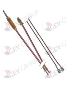 Termopar M8x1 L 720mm con termopares empalme conexión enchufable tamaño de rosca M8x1