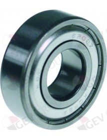 Deep-groove ball bearing type DIN 6202-2Z shaft ø 15mm ED ø 35mm W 11mm