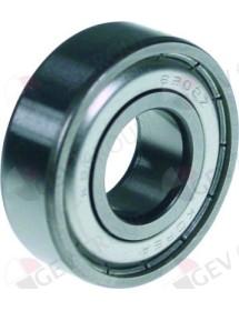 Rodamiento de bolas radial tipo DIN 6202-2Z árbol ø 15mm ø ext. 35mm An 11mm