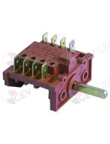 operation switch 2 operating positions 2NO switching sequence 0-1 10A shaft ø 6x4,6mm