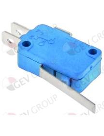 microinterruptor con manilla 250V 16A 1CO empalme conector Faston 6,3mm L 28mm L1 35mm
