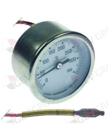 thermometer mounting ø 52mm t.max. 350°C measuring range 0 up to +350°C probe ø 6,5mm