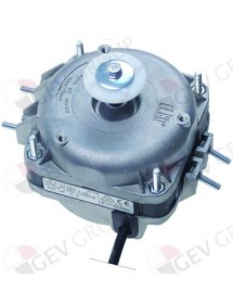 fan motor 5W 230V 50Hz L1 48mm L2 52mm L3 79,5mm W 83mm cable length 500mm 1300/1550rpm ELCO