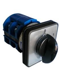 conmutador giratorio 2 0-1 juegos de contactos 4 tipo 9A003PL-2V 400V 2A eje ø 6mm