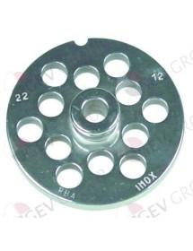 Placa Inoxidable de 22 agujero de 12mm con pivote