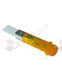 lámpara de señalización ø 9mm 230V amarillo
