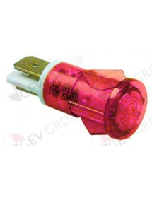 Indicator light ø 13mm 230V red
