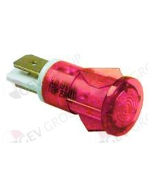 lámpara de señalización ø 13mm 230V rojo