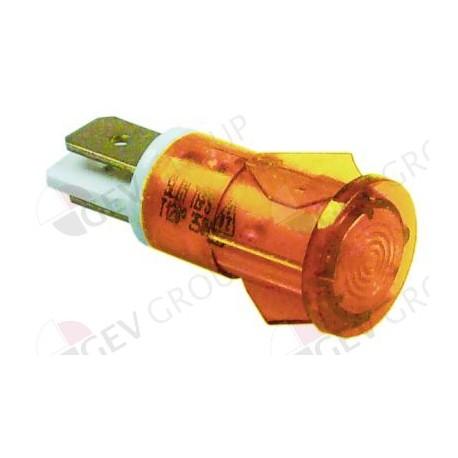 indicator light ø 12mm yellow 230V Qty 1 pcs