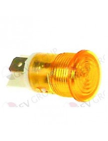 lámpara de señalización ø 16mm 230V amarillo empalme conector Faston 6,3mm
