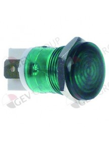 Indicator light ø 16mm 230V green connection male faston 6,3mm