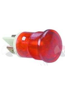 Lámpara de señalización ø 16mm 230V rojo empalme conector Faston 6,3mm