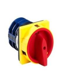 conmutador giratorio 2 posiciones de conmutación 0-1 tipo LW26-20 660V 20A eje ø 6x6mm