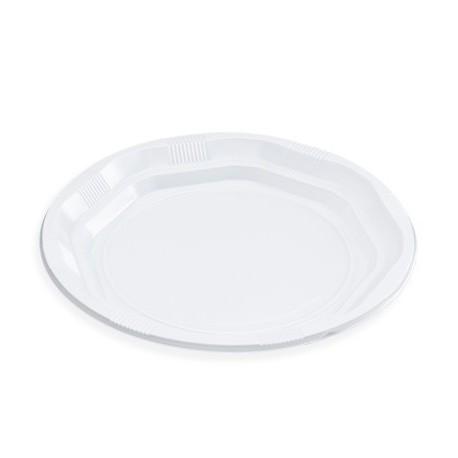 Plato Plastico Llano 20,5 cm (Pack 100 uds)