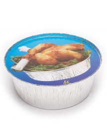 Aluminum packaging for chicken (125 pcs)