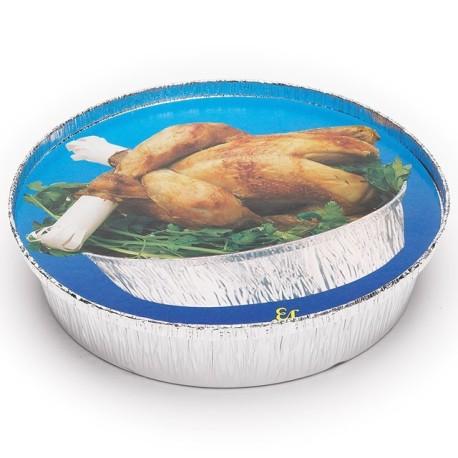 Envase Aluminio Medio Pollo (Pack 125 Uds)