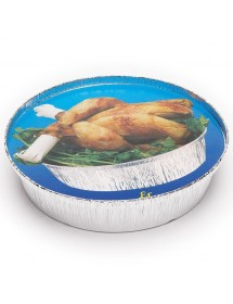 Shrink-wrapped container lid for chicken (125 pcs)