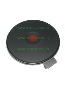 Placa de cocción ø 145mm 1500W 230V empalme 4 bornes de rosca con borde de 8 mm