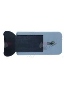 cierre de cámara frigorífica tipo 500 TN H 205mm H1 50mm An 108mm dist. del agujero 110mm cerrable MTH