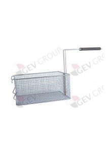fryer basket L1 265mm W1 180mm H1 120mm L2 480mm H2 215mm chrome-plated steel Elframo, Komel, Repagas