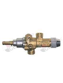 gas tap PEL type 21S gas input M16x1,5 (ø 10mm) bypass nozzle ø 0,35mm