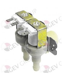 "Solenoid valve double angled 230V inlet 3/4"" outlet 11,5mm DN10 TP plastic"