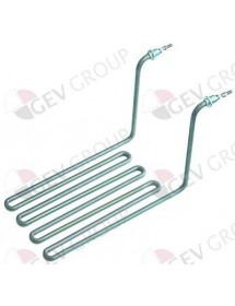 "Heating element 3000W 230V 1 L 290mm W 160mm H 185mm L1 18mm L2 272mm ¼ ""clamping distance 144mm Star10"