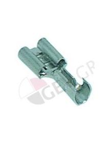 conector Faston hembra tamaño 6,3x0,8mm 1,0-2,5mm² recto Fe gal Ni T máx 340°C UE 100 pzs