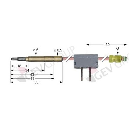 termopar con interruptor clavija ø6,0mm M9x1 L 600mm soldadura Ascobloc, Repagas