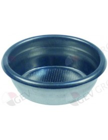 coffee filter ø 70mm mounting ø 60mm H 21mm cups 2 amount of coffee 12g perforation ø 0,3mm round