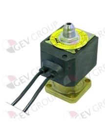 Válvula magnética latón 3 vías 230V cuerpo cono exterior DN 1,2mm conector hembra DIN