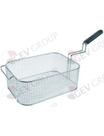 fryer basket W1 225mm L1 320mm H1 120mm L2 570mm H2 140mm H3 250mm chrome-plated steel