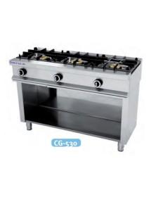 Cocina a gas sobresuelo 3 fuegos CG-530