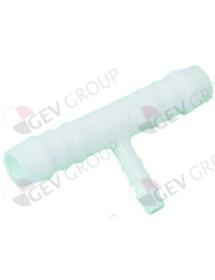 Pieza T plástico empalme de tubo ø 12-6-12mm 3 vías Fagor
