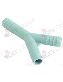 pieza Y empalme de tubo ø 12-12-12mm plástico L 75 mm Fagor