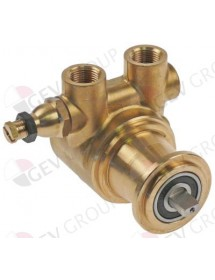 """pump head PO204 FLUID-O-TECH L 82mm 200l/h connection 3/8"""" GAS with bypass brass"""