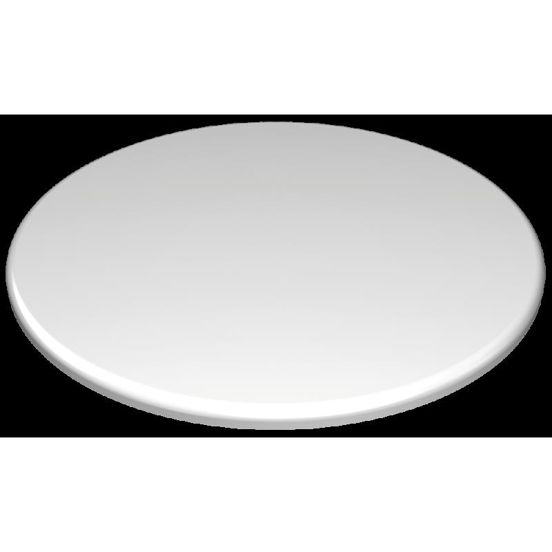 Plato polietileno redondo blanco de presentaci n chef Cocinilla a gas 1 plato