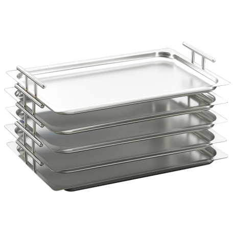Stainless steel tray with handle