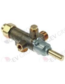 gas tap COPRECI type CAL-3200 gas input M18x1,5 (tube ø 12mm) Fagor