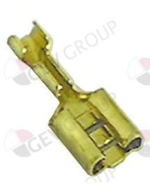 conector Faston hembra tamaño 6,3x0,8mm 0,5-1,0mm² CuZn T máx 125°C UE 20 pzs