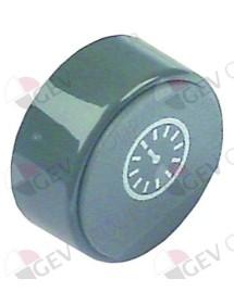 push button ø 23mm grey clock no lens Elframo, Komel