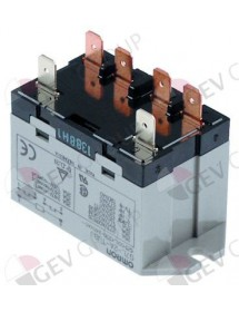 power relays 2-pole 2NO 25A 230V connection male faston 6,3mm flange support Alpeninox, Electrolux, Gaggia, Sammic